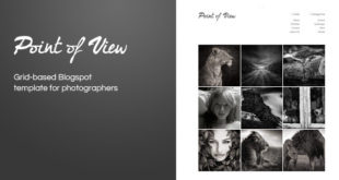 Free Download Point of View Themeforest Blogger Template