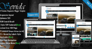 Free Download Sevida Magazine Responsive Blogger Template