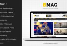 Free Download BMAG v2.1.1 Magazine Responsive Blogger Template