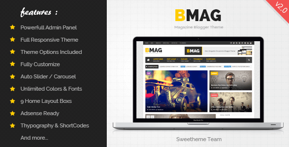 Free Download BMAG v2.1.1 Magazine Responsive Blogger Template