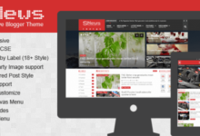 Free Download SNEWS Magazine Responsive Blogger Template