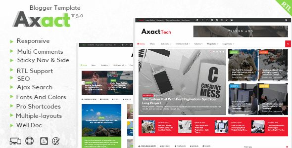 Free Download Axact Magazine Responsive Blogger Template