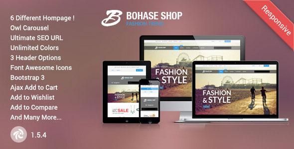Free Download Bohase Responsive and Multipurpose Zen cart Theme