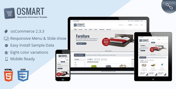 Free Download OSMART Responsive osCommerce Theme
