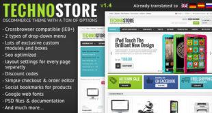 Free Download TechnoStore Responsive osCommerce Theme