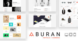 Free Download BURAN Creative Portfolio and Business WordPress Theme