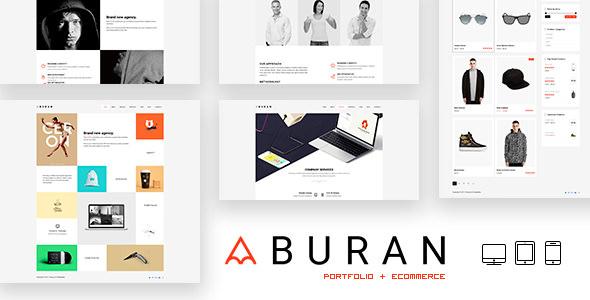 Free Download BURAN Creative Portfolio and Business WordPress Theme