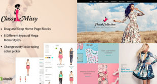 Free Download Classy Missy Fashion Store Responsive Shopify Theme