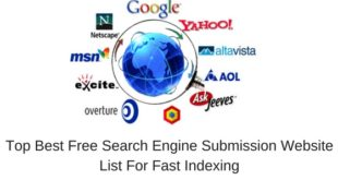 Top Best Free Search Engine Submission Website List For Fast Indexing
